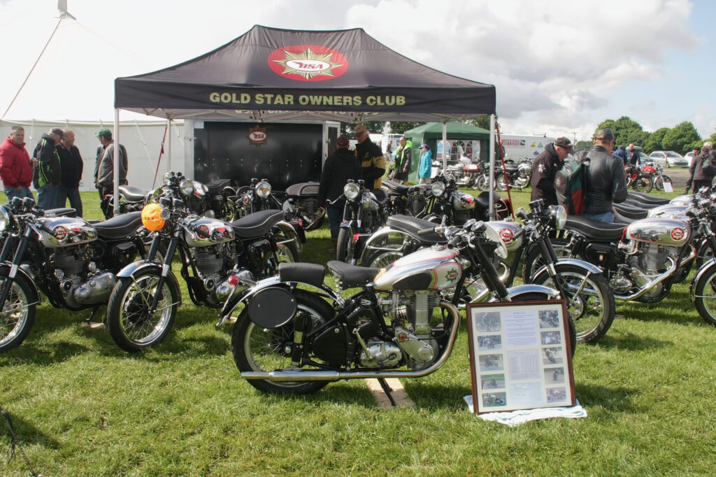 BSA Goldstar owners stand