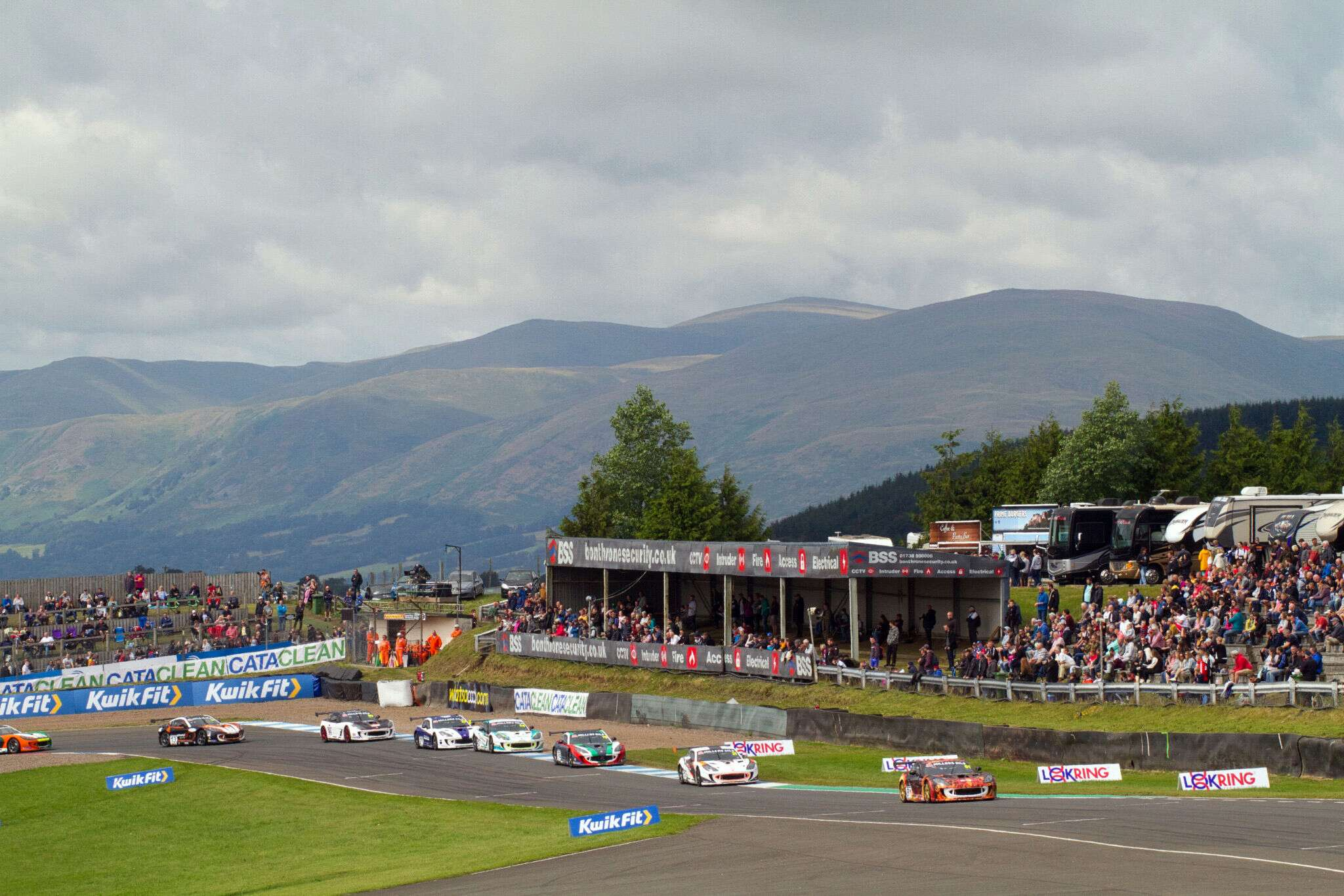 Scenic view of Knockhill Racing Circuit
